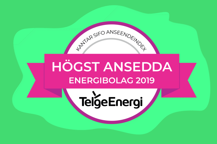 Höst ansedda energibolaget 2019 -Telge Energi